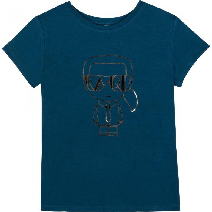 Dievčenské tričko KARL modré KARL LAGERFELD