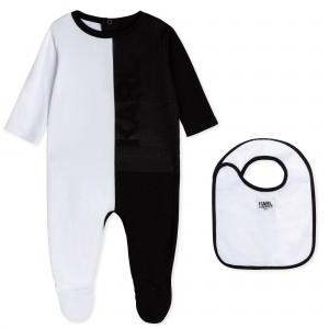 Pyžamko s podbradníkom čierno/biele KARL LAGERFELD