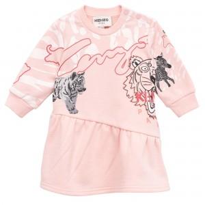Dievčenské mikinové šaty ružové KENZO
