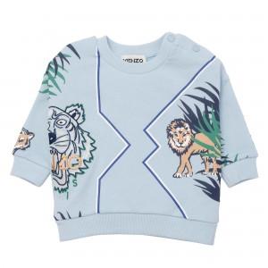 Chlapčenská mikina potlač tigra svetlo modrá KENZO