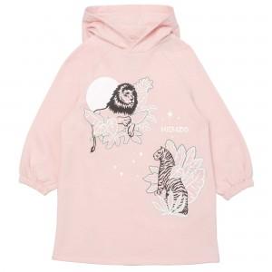 Dievčenské šaty mikinové ružové KENZO