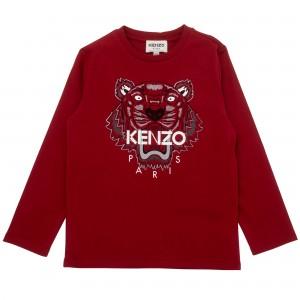 Chlapčenské tričko s tigrom červené KENZO