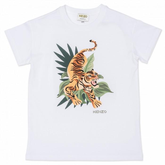 Detské tričko s potlačou tigra KENZO