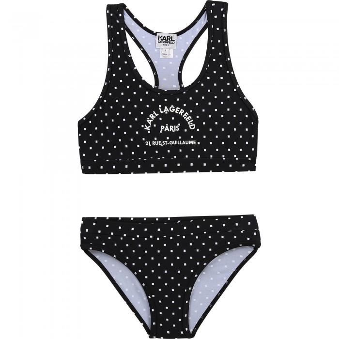 Dievčenské plavky dvojdielne čierne KARL LAGERFELD