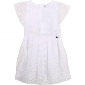 Dievčenské šaty biele KARL LAGERFELD