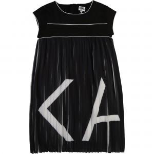 Dievčenské šaty čierno biele KARL LAGERFELD