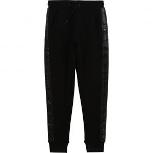 Chlapčenské nohavice jogging čierne KARL LAGERFELD