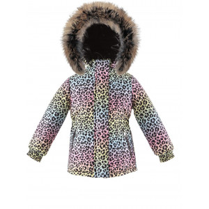 Módna zimná bunda s prírodnou kožušinou multicolor LEO/pilguni
